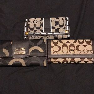 Group of 3 coach like wallets